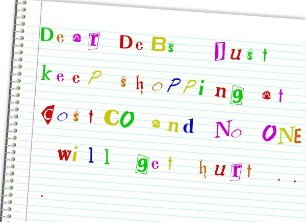debt debs ransom-note-
