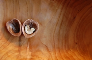 Look the nut is cracked open into a heart shape ... ahhhh!